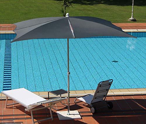 PEGANE Parasol centré Anthracite en Polyester, Monture alu mm 35/40, cm 250x250/8