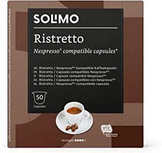 Marca Amazon - Solimo Cápsulas Ristretto, compatibles con