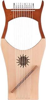 Muslady Harps Walter.t 10-String Wooden Lyre Harp Nylon Strings Spruce Topboard Beech Wood Backboard String Instrument wit...