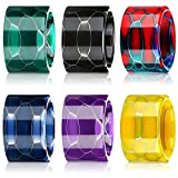 Drip Tips Replacement Resin Drip Tip Connector Cover Honeycomb Standard Drip Tip for Coffee Machine Favors Ice Maker(Black, Rainbow, Purple, Green, Blue, Yellow, 6 Pieces)