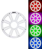 Kicker KMG10 12-Inch (30cm) Grille for KM12 and KMF12 Subwoofer, LED, White
