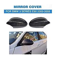炭素繊維交換タイプスタイリング E90 車カーボンミラーは、 bmw 、自動カーボンミラー用 BMW E90 2005-2008