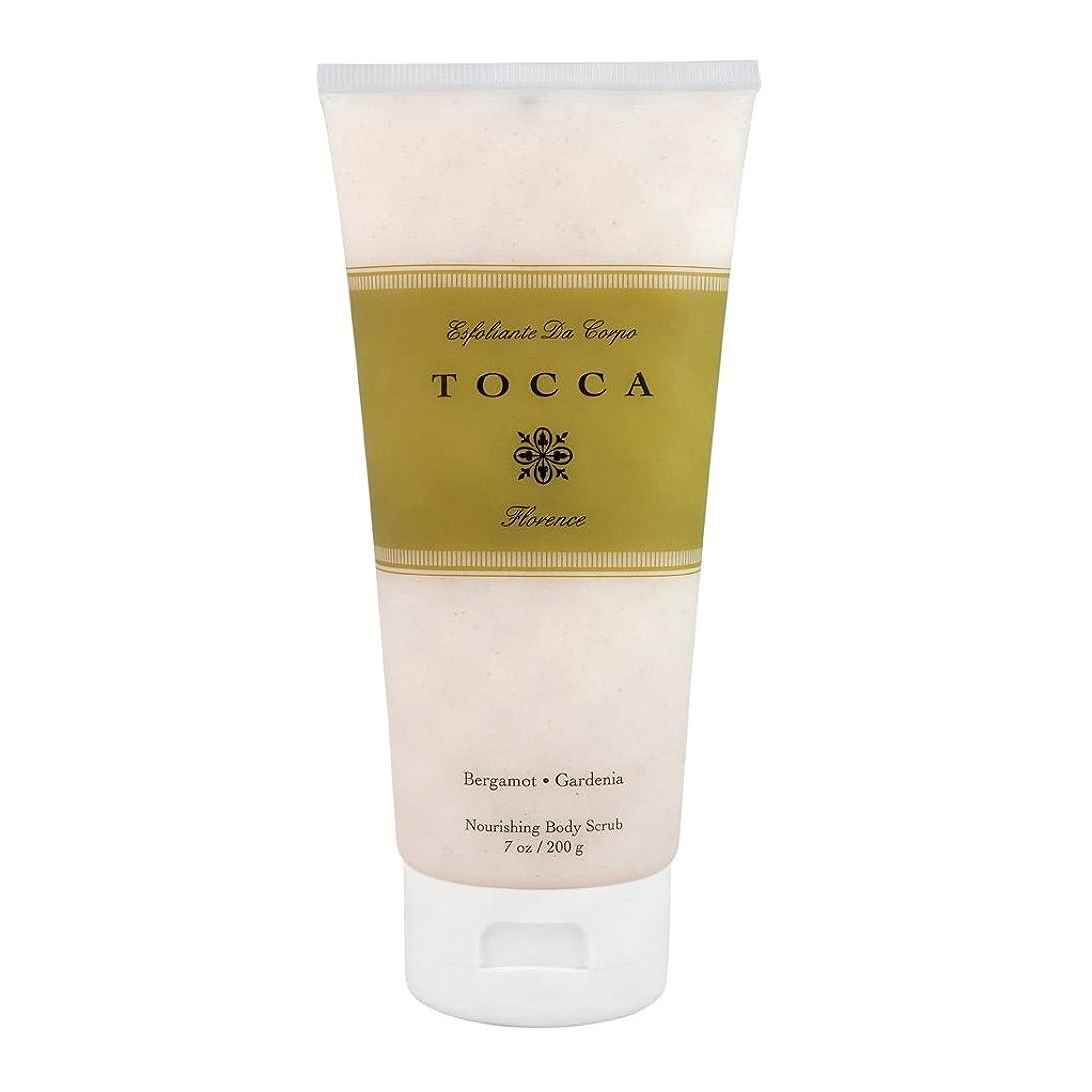 リラックスアンビエント赤トッカ(TOCCA) ボディーケアスクラブ フローレンスの香り 200ml(全身?ボディー用マッサージ料 ガーデニアとベルガモットが誘うように溶け合うどこまでも上品なフローラルの香り)