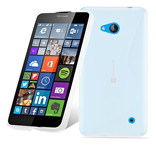 Cadorabo Custodia per Nokia Lumia 640 in Semi Transparente - Morbida Cover Protettiva Sottile di Silicone TPU con Bordo Protezione - Ultra Slim Case Antiurto Gel Back Bumper Guscio