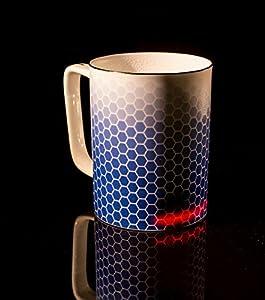 Glowstone Ultimate Honeycomb - Taza de porcelana fina (130 ml)