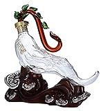 NIANXINN Decantador de Whisky - Decoración de artesanía Transparente de Botella de Cristal Creativo Animal Usado para Vino Blanco Whisky Whisky Decantador de Whisky