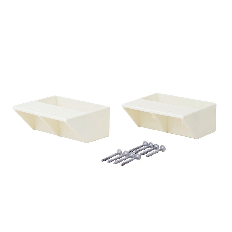 できる一流仲良し平安伸銅工業 LABRICO DIY収納パーツ 2×4棚受シングル オフホワイト DXO-2