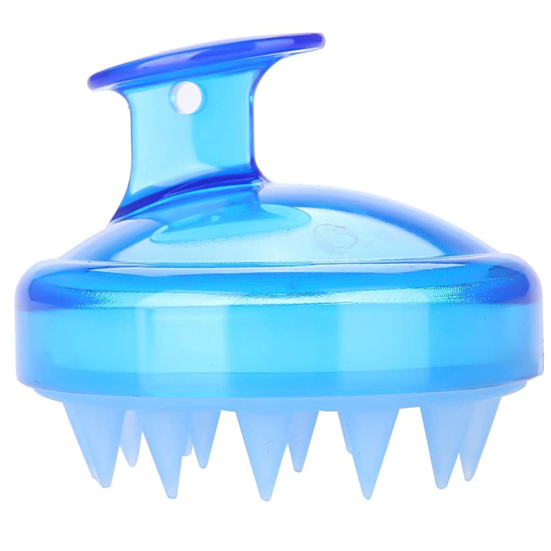 脱走名義でつかむ5色マッサージャーヘッド - スカルプマッサージャー、マッサージャーブラシヘッドシャンプー - ボディ洗浄マッサージャーのためのシャワーブラシ(青)