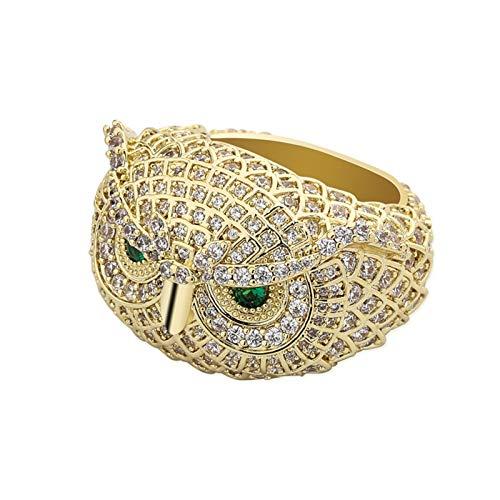 3°Amy Anillo Búho Búho Anillo Animal Plateado Personalidad op para Hombres Mujeres (Metal Color : Gold Color, Ring Size : 8)