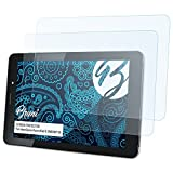 Bruni Schutzfolie kompatibel mit HannSpree HannsPad 8 SN80W71B Folie, glasklare Bildschirmschutzfolie (2X)