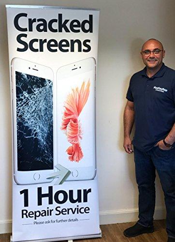FFS Telefoon Reparatie Trek omhoog Banner Stand - Apple Gescheurde Schermen 1 uur Reparatie Service