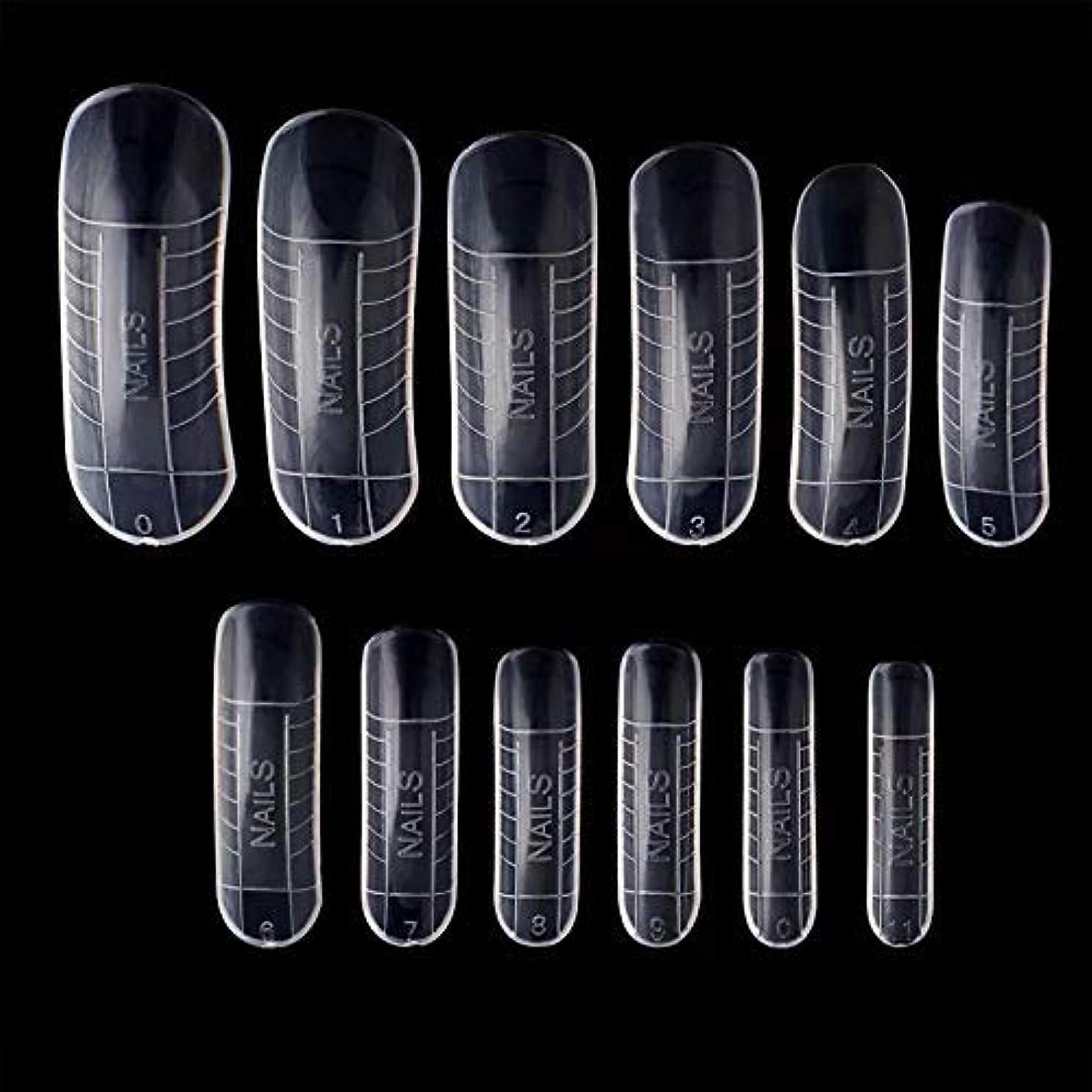 腸妨げるハロウィンポリジェル用 ネイルデュアルフォーム 12サイズ×2(24枚セット) 繰り返し使える ネイルチップ