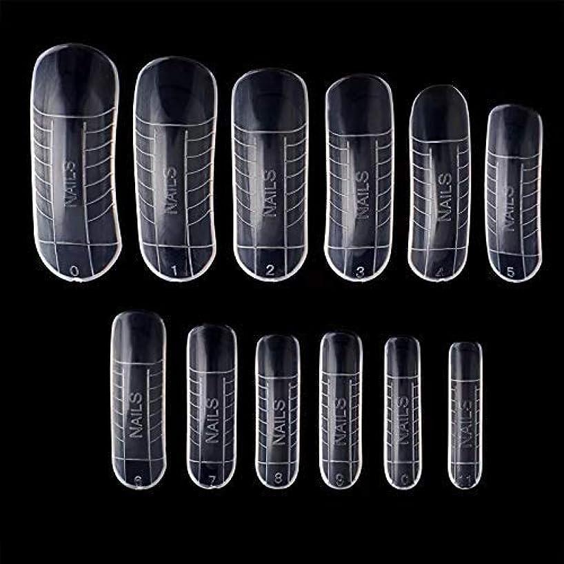 ラリーベルモントカルシウムフォルダポリジェル用 ネイルデュアルフォーム 12サイズ×2(24枚セット) 繰り返し使える ネイルチップ