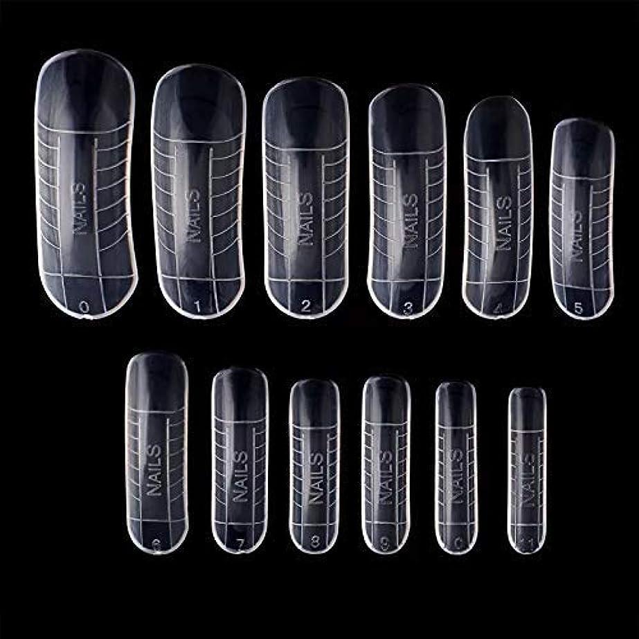 無礼にの前でいうポリジェル用 ネイルデュアルフォーム 12サイズ×2(24枚セット) 繰り返し使える ネイルチップ
