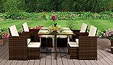 EIVD Juego de muebles de jardín de ratán, de 8 plazas (color A1)