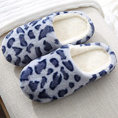 ZYCH Zapatillas Pantuflas de Invierno Zapatillas de Estar Slippers Calienta y Cómodo Ideal para Hombre y Mujer,con Espuma Viscoelástica,Cómodas,Antideslizantes,para Interior y Exterior Ponerse