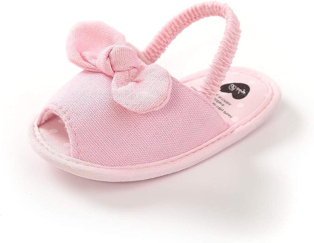Kuner Sales Baby Girls Cotton Bowknot Outdoor Toddler Ranking TOP11 Flowers Non-slip