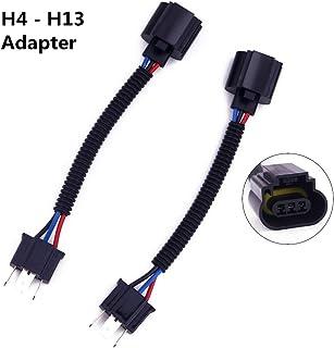 Biqing 2 szt. H4 9003 do H13 9008 adapter wiązka reflektorów konwersja kabel gniazda do 7-calowego reflektora LED lub cięż...
