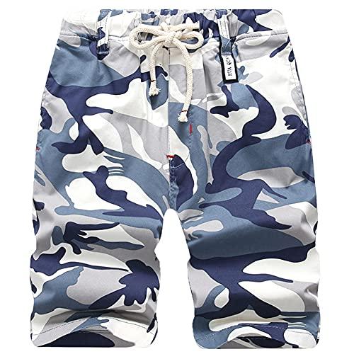 Idgreatim Jungen Teens Camouflage Shorts Multipocket Shorts Army Print Frachtkampf im Freien Knielange Shorts
