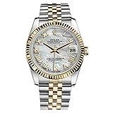 Rolex Oyster Perpetual Datejust 36Madre de Perla Dial Acero Inoxidable Acero y 18K Amarillo Oro Rolex Jubileo Automático Mens Reloj 116233MRJ