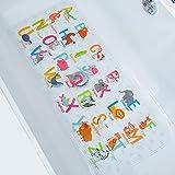 BEEHOMEE Bath Mats for Tub Kids - Large Cartoon Non-Slip Bathroom Bathtub Kid Mat for Baby Toddler Anti-Slip Shower Mats for Floor 35x16,Machine Washable XL Size Bathroom Mats (Alphabet)