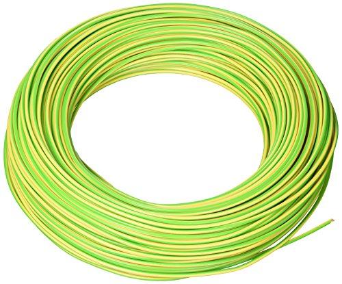 La Triveneta Cables 3516025 Cable Eléctrico de Unión Unipolar, Color Amarillo/Verde, 100...