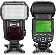 Opteka IF-980 i-TTL Dedicated Auto-Focus Speedlight Flash with LCD Display for Nikon Z50, Z7, Z6, D6, D5, D4, D850, D810, D780, D750, D610, D500, D7500, D7200, D5600, D5500, D5300, D3500, D3400, D3300