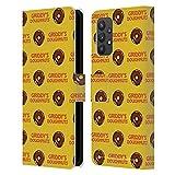 Head Case Designs Licenciado Oficialmente The Umbrella Academy Estampados Donuts Griddy Carcasa de Cuero Tipo Libro Compatible con Samsung Galaxy A32 5G (2021)