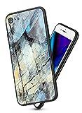 Suhctup Compatibile con iPhone 7 / iPhone 8 Custodia Protettiva in Vetro Temperato 9H + Co...