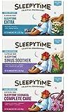 Celestial Seasonings Wellness Caffeine-Free Herbal Tea 3 Flavor Variety Bundle, 1 Each: Sleepytime Extra Tea, Sleepytime Echinacea Complete Care Tea, Sleepytime Sinus Soother Tea (20 Count Ea.)