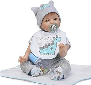 "Reborn Baby Doll, 100% Handmade Full Soft Silicone 22"" /55cm Lifelike Newborn Doll for Children Xmas Gift-RB149"