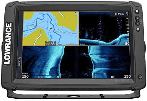 Elite-12 Ti2-12-inch Fish Finder Active Imaging 3-in-1Transducer, Wireless Networking, Real-Time Map Creation US/CAN Navionics+ Mapping Card …