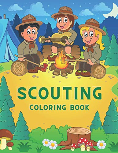 Scouting Coloring Book: Great Gift for Kids & Toddlers Who Love To Be A Scout