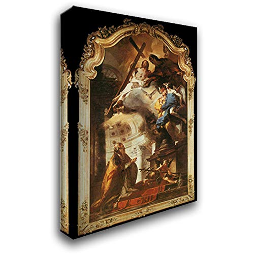 Pope St Clement Adoring The Trinity 18x24 Gallery Wrapped Stretched Canvas Art by Giovanni Battista Tiepolo