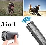 SD&EY Ahuyentador Ultrasónico del Perro Y Dispositivo del Amaestrador 3 En 1 Dispositivo De Entrenamiento Handheld del Perro De La Parada De La Corteza Anti Que Ladra