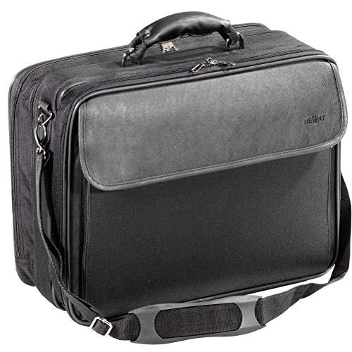 Laptoptasche Notebooktasche 17 Zoll, Erweiterbar Groß Laptop Tasche, Schultertasche Aktentasche für Business/Reisen/Schule/Männer/Frauen, Schwarz