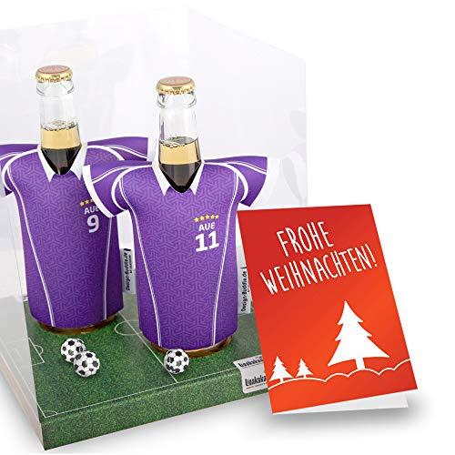 Weihnachts-Geschenk | Der Trikotkühler | Das Männergeschenk für AUE-Fans | Langlebige Geschenkidee Ehe-Mann Freund Vater Geburtstag | Bier-Flaschenkühler by Ligakakao