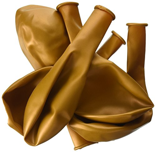 "Pioneer Balloon Company 25 Count Latex Balloon, 11"", Metallic Gold"