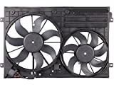 TOPAZ 1K0121205AD9B9 Radiator Dual Cooling Fan Assembly for Volkswagen Jetta...