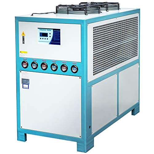 Vevor - Enfriador de agua industrial, 15 toneladas, refrigerador de agua refrigerado por aire, 15 HP, capacidad del depósito 200 L, refrigerador de agua de refrigeración por aire,