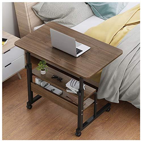LYLSXY Mesa Auxiliar, Escritorio pequeño, Mesa de sofá Cama, Mesa Auxiliar para portátil con Ruedas Tabla del Escritorio Trabajo (Color : Black Oak)
