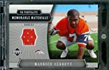 2005 Upper Deck Portraits Memorable Materials Maurice Clarett Jersey Denver Broncos Football Card - Mint Condition
