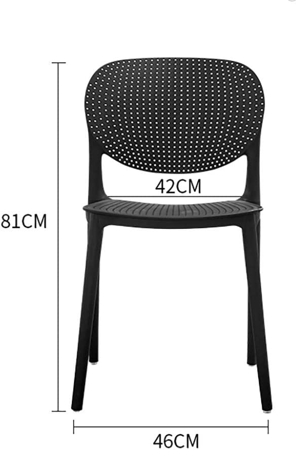 [une paire] Chaise de salle à manger en plastique chaise adulte mode créative salon chaise café salle à manger chaise (Couleur : Black(a pair)) White(a Pair)
