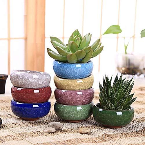 8 stks/partij ijs crack keramische bloempotten voor sappige planten kleine Bonsai pot huis en tuin Decor mini sappige planten potten