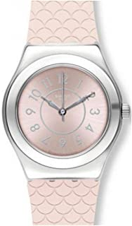 Swatch Women's Silver Dial Silicone Band Watch - YLZ101