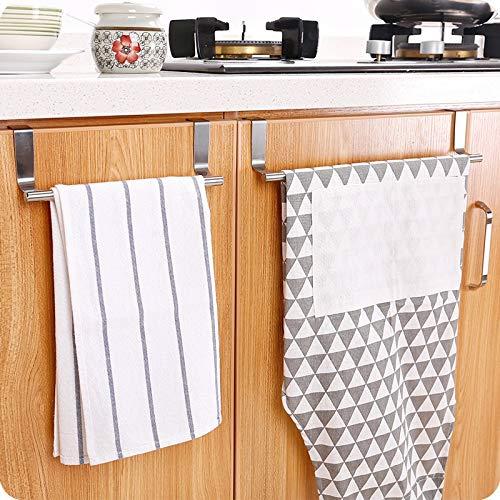 Yllang YLG Almacenamiento en Rack de Acero Inoxidable Baño Soporte de Toallas de Cocina Toallero Armario Percha Puerta del Armario Que cuelgan de Las misceláneas Shelf (Color : Big)