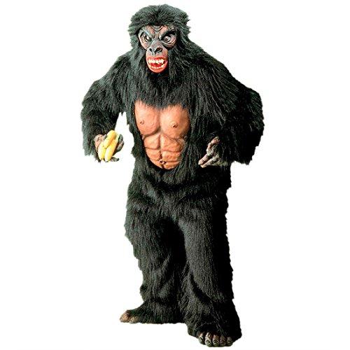 Amakando Déguisement intégral Gorille en Velours Costume Complet Chaud en péluche Zoo planète des singes Jungle Habit Mascotte soirée à thème Carnaval
