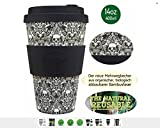 Ecoffee Cup Milperra Mutha Negro, Blanco Café 1pieza(s) tazón - Taza/Vaso (Solo, 0,4 L, Negro, Blanco, Fibra de bambú, Café, 1 Pieza(s))