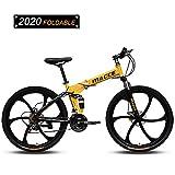 26 Pulgadas Bicicleta De Montaña Specialized Mtb Plegable Engranajes De 24 Velocidades Frenos De Doble Disco Bicicleta De Montaña Bicicleta De Trail Cuadro De Suspensión Completa De Acero Con Alto