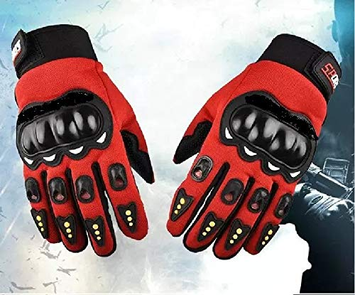 PUXINGPING- Pantalla táctil del Dedo de la Motocicleta Guante Completa Guantes Hombre Mujeres Bicicleta for Ducati Monster 696 821 796 1200 1100 620 695 797 600 (Color : Red)